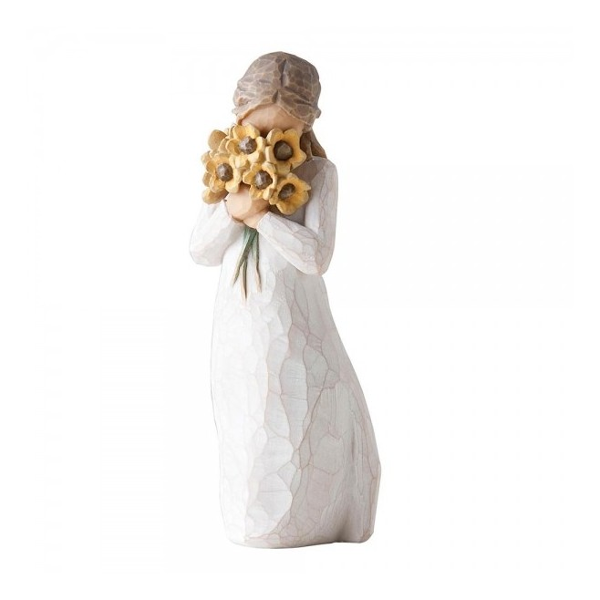 STATUE WARM EMBRACE BOUQUET JAUNE